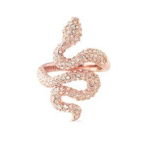 """Stella & dot Rose Gold """"Sidewinder""""Snake Ring"""